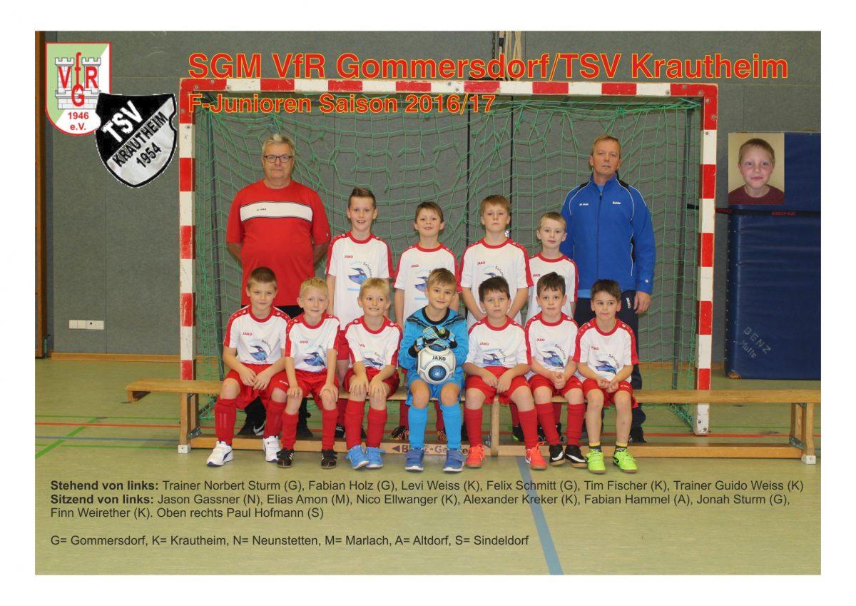 Eilmeldung: F-Junioren der SG VfR/TSV Einlaufkinder