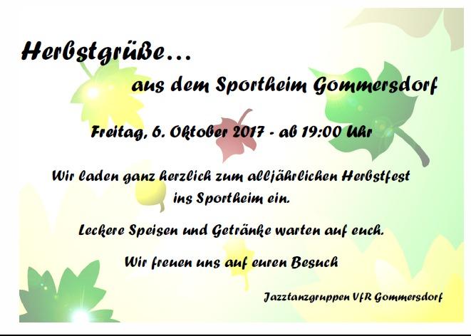 Herbstfest der Jazztanzgruppen im Sportheim