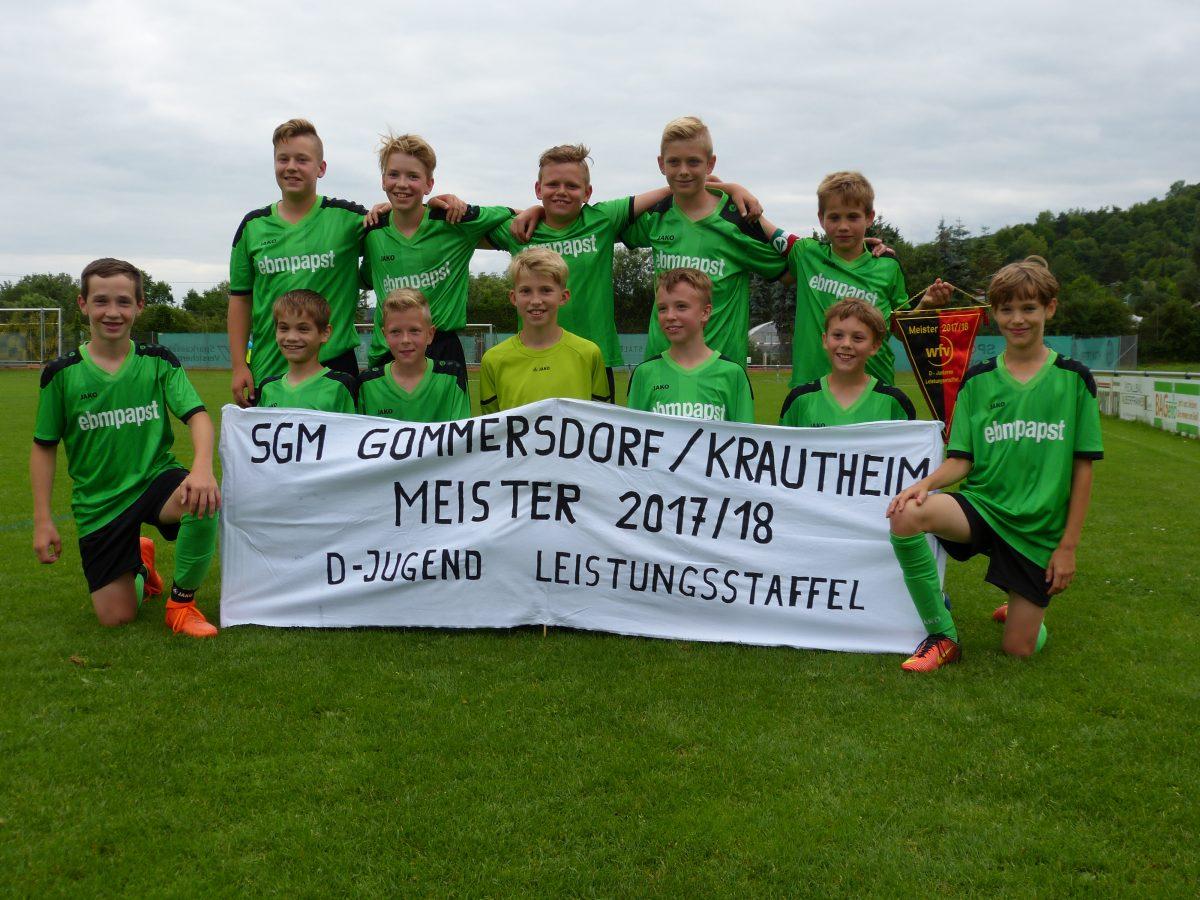 13. Juni: D-Junioren sind Meister in der Leistungsstaffel!