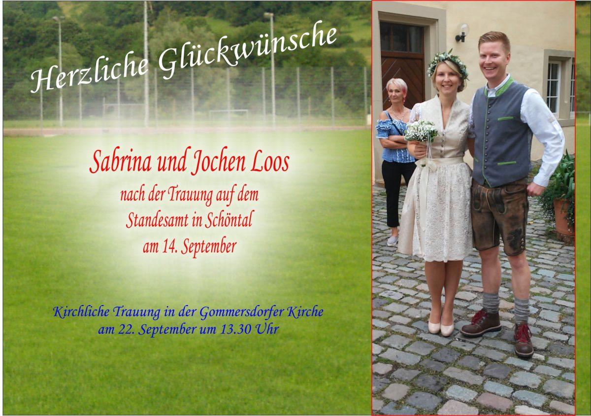 14. September: Langjähriger Spieler Jochen hat geheiratet