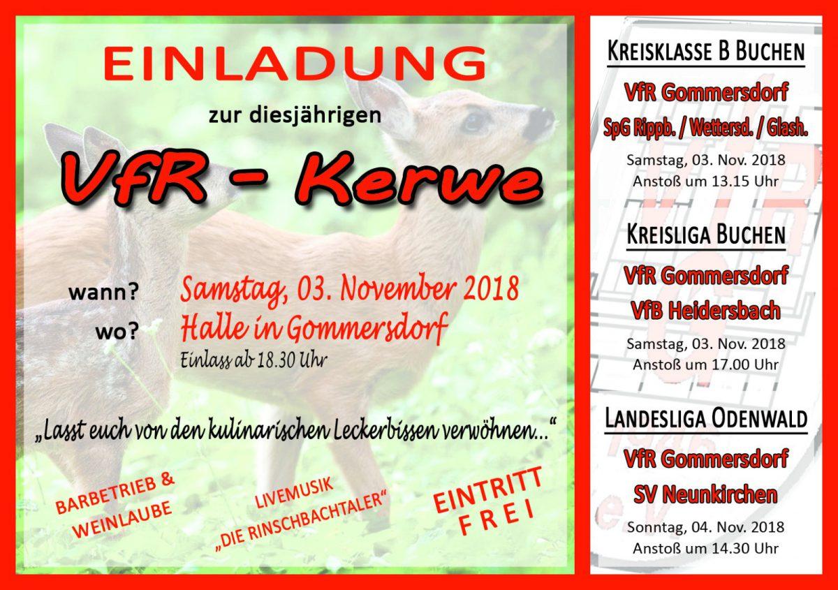 2. November: VfR-Kerwe in der Halle