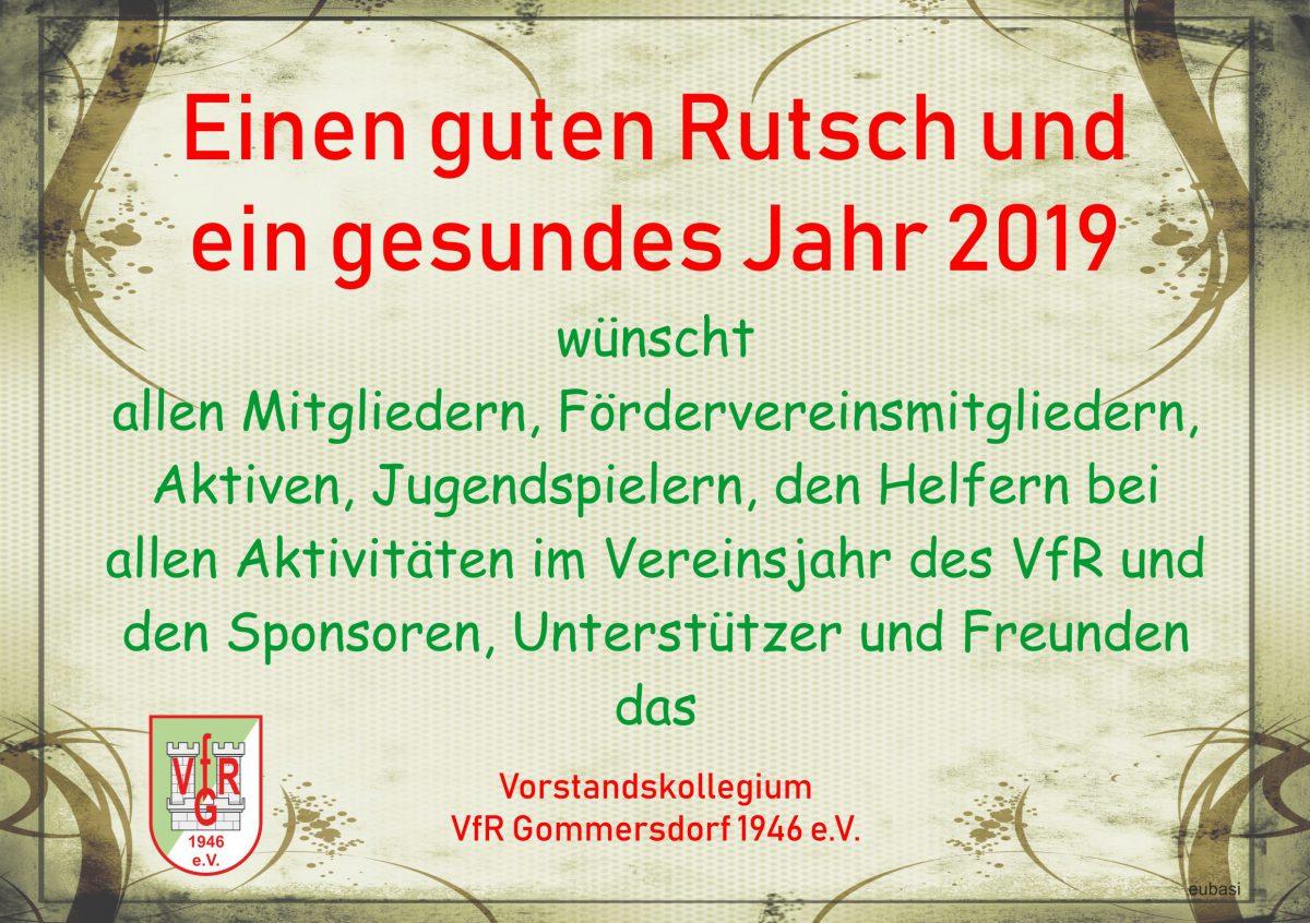 30. Dezember: Neujahrsgrüße