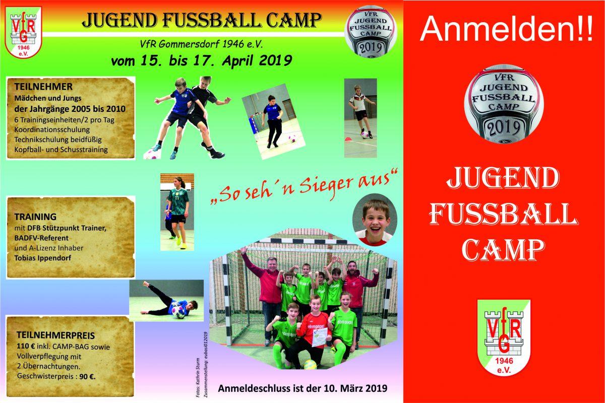 6. Februar: Anmeldung Jugend Fußball Camp