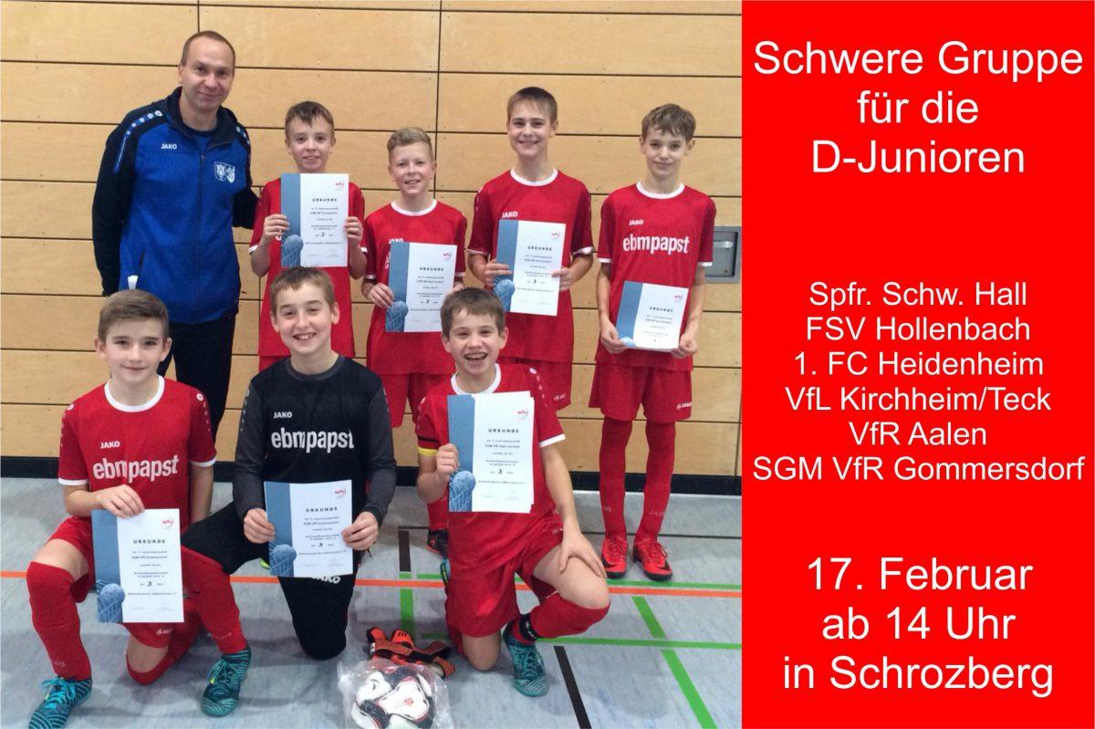5. Februar: Spielplan für Zwischenrunde der D-Junioren