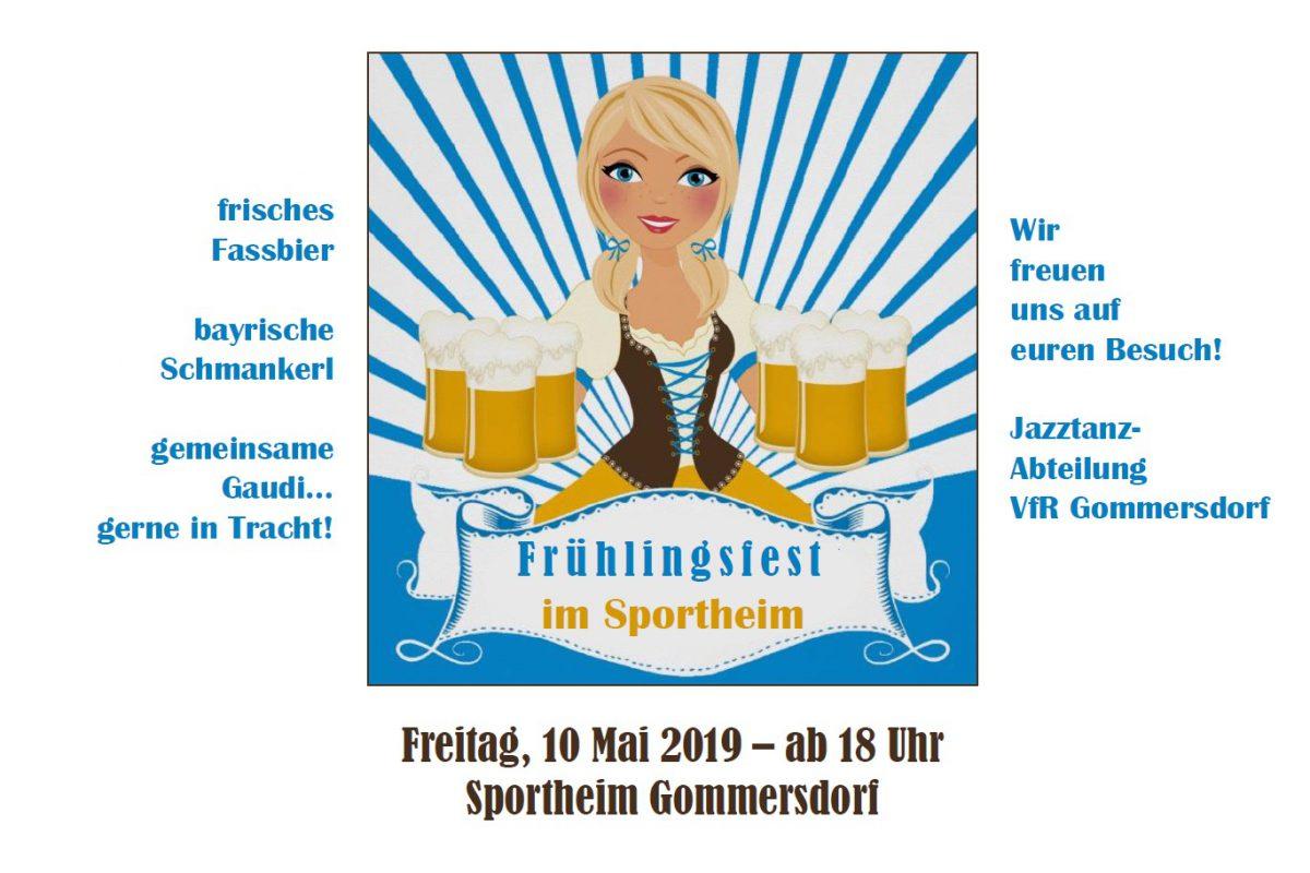 6. Mai: Am Freitag Frühlingsfest im Sportheim
