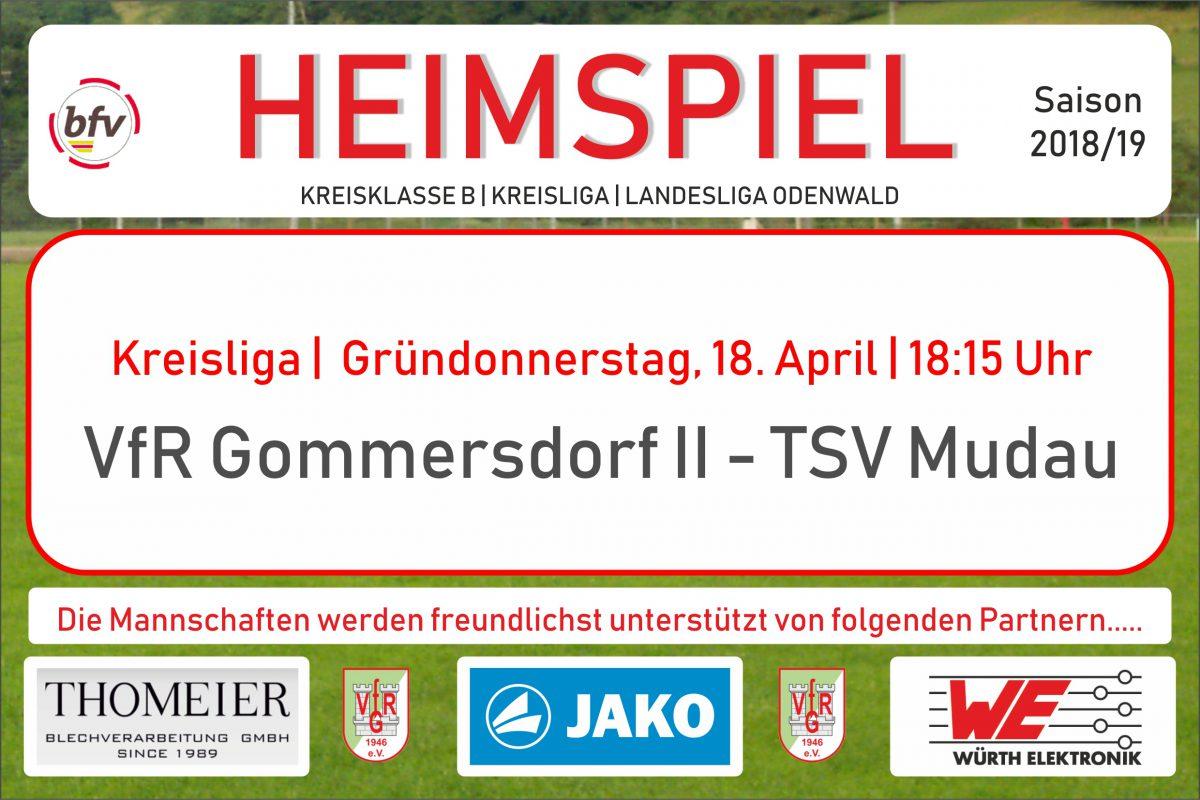 17. April: Morgen Kreisliga zu Hause und VfR III in Wettersdorf