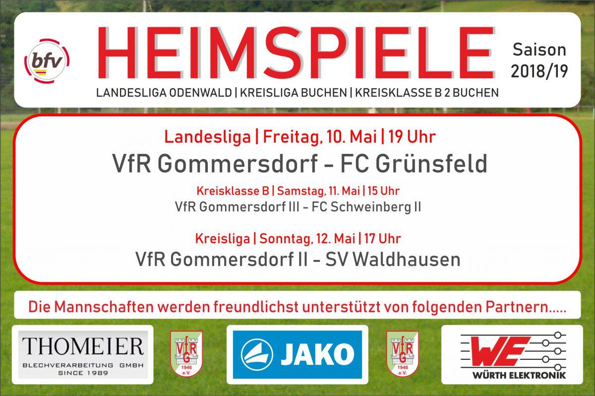 10. Mai: Heute gegen Grünsfeld