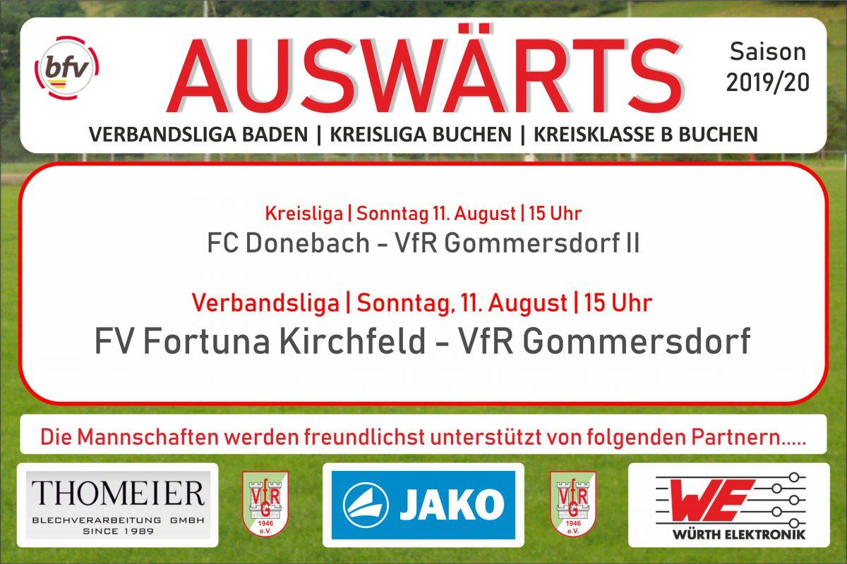 9. August: Am Sonntag in Donebach und Kirchfeld