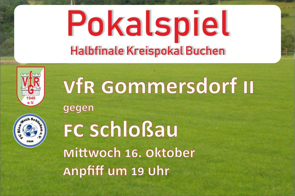 14. Oktober: Am Mittwoch Pokalspiel gegen FC Schloßau