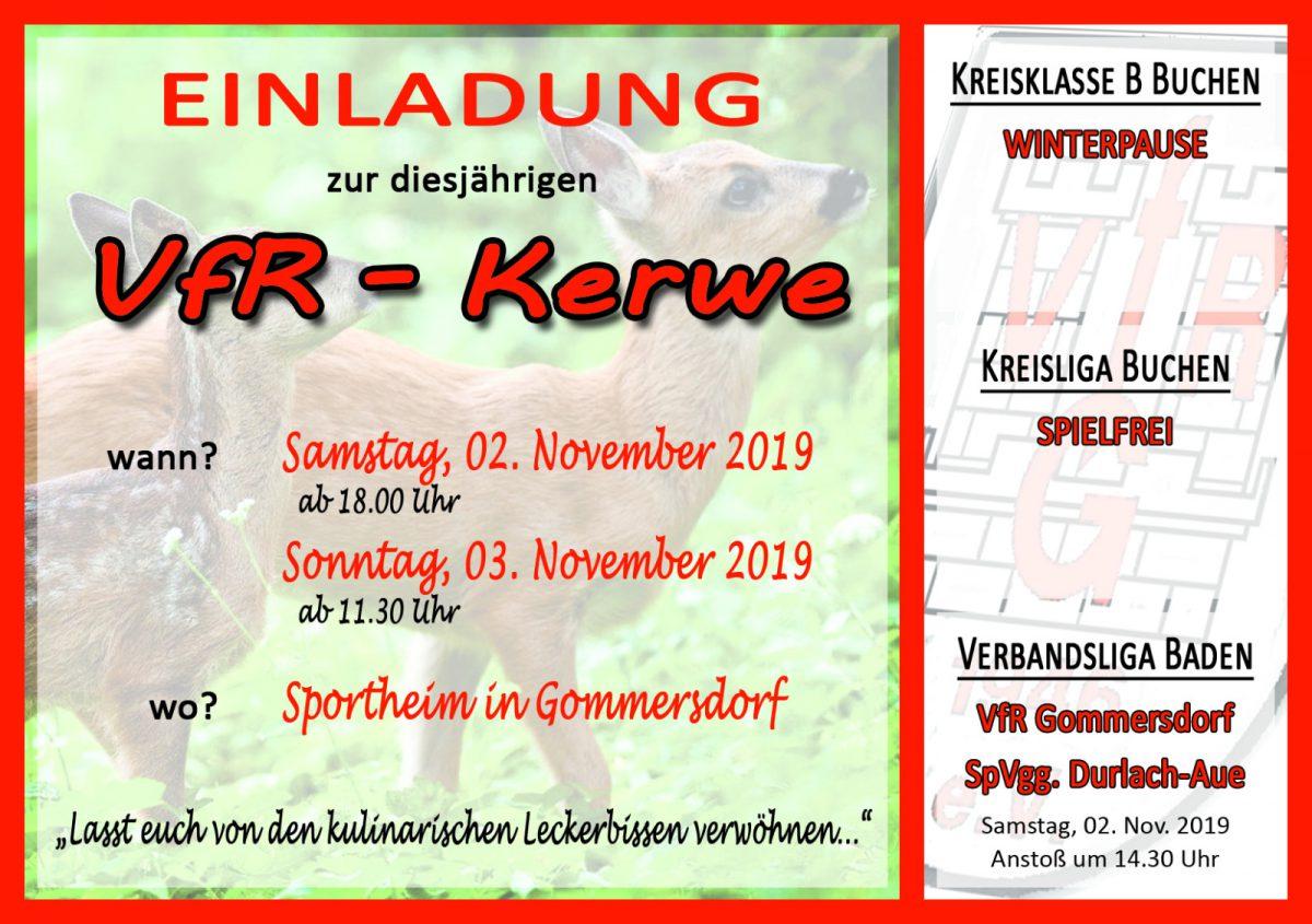 Am Samstag und Sonntag VfR Kerwe im Sportheim