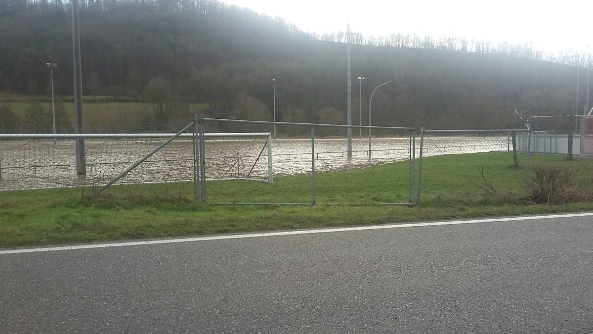 4. Februar: Hochwasser im Jagsttal
