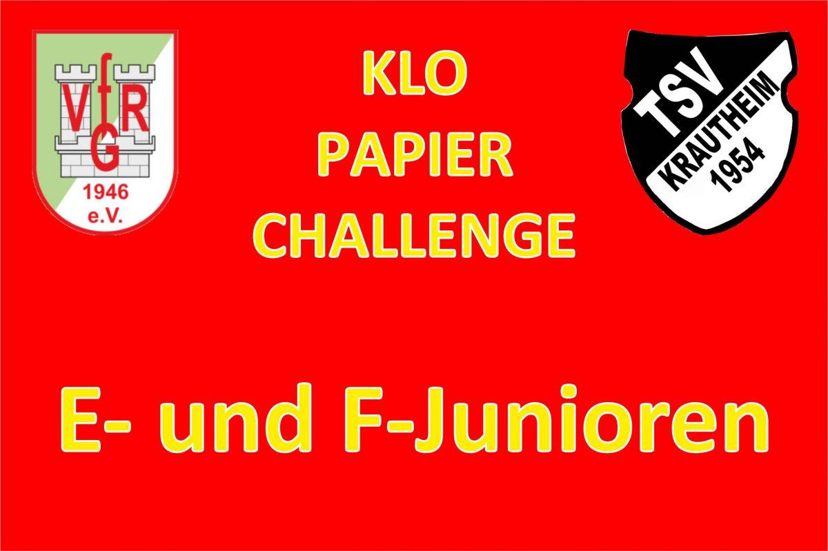 29. April: E-und F-Junioren Challenge
