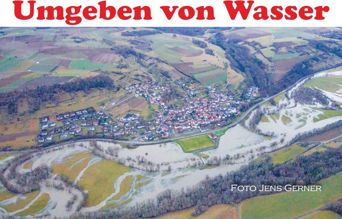 29. Januar: Die Jagst führt Hochwasser