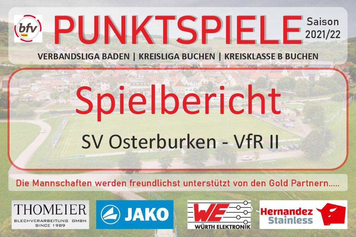 19. August: 0:1-Niederlage in Osterburken