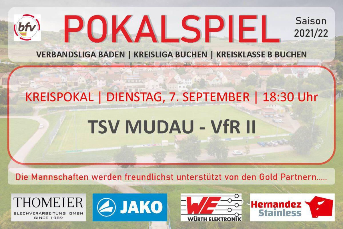 6. Sept.: VfR II morgen zum Pokalspiel nach Mudau
